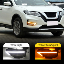 DRL For Nissan X Trail X 트레일 로그 2017 2018 2019 2020 주간 주행 등 안개등 커버 일광 회전 신호