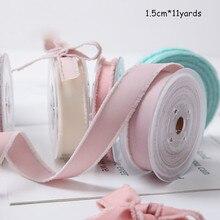 1.5cm Striped Silk Ribbon Thread Floral Packaging Bow DIY Material