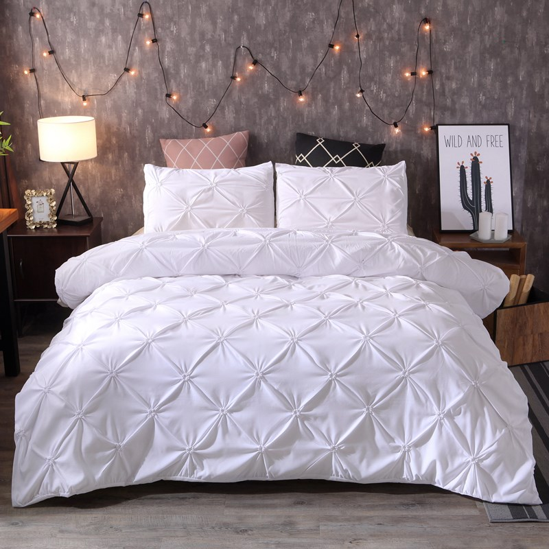Denisroom Bedding Set Luxury Duvet Cover Sets Bedspreads Bed Set Black White King Double Bed Comforters No Sheet XY58#