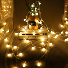 Battery Powered Ball LED String Lights 2m 3m 4m 5m 10M LED Rope Christmas Garlands Holiday Light Wedding Lantern Lighting