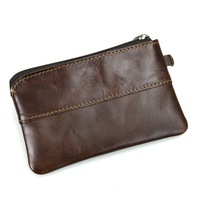 Leather pouch coin purse coin key case