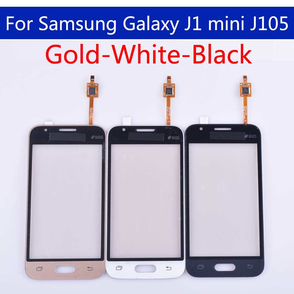 50pcs\lot J105 For Samsung Galaxy J1 mini J105H J105F J105B J105M SM-J105F Touch Screen panel Digitizer Glass Touchscreen