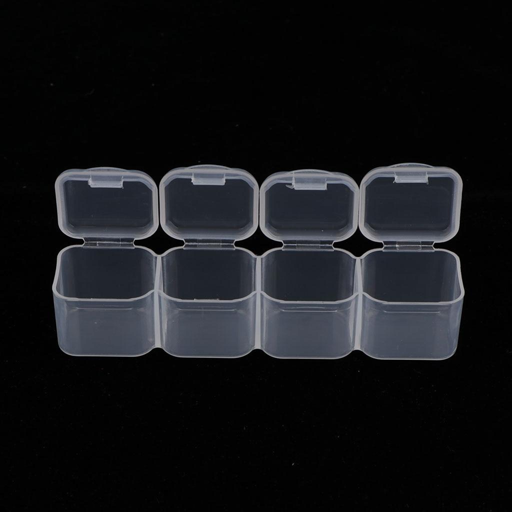 Пластиковая симпатичная прозрачная коробка для хранения с 56 сетками, ювелирное изделие для дизайна ногтей, бусинки для таблеток, мини-Чехол, ювелирный дисплей-4