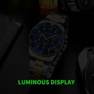 Image 4 - MEGALITH יוקרה Mens שעוני ספורט הכרונוגרף עמיד למים אנלוגי 24 שעה תאריך קוורץ שעון גברים מלא פלדת יד שעונים שעון