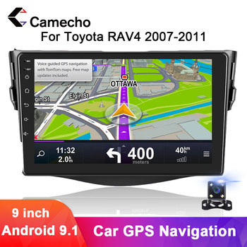 Camecho 2 Din Android 9.1 Car Muiltmedia Video Player 7'' GPS Navigation 2din Autoradio For Toyota RAV4 2007 2008 2009 2010 2011 image