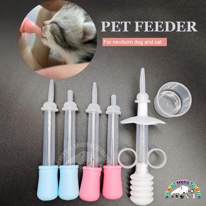 Biberón para lactancia de perros y gatos, botella para gatito, alimentador de animales para bebé, productos para mascotas, 3ml, 5ml, 20 piezas