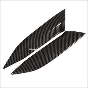 Image 2 - Wooeight 2Pcs Carbon Fiber Car Interior Central Control Side Sticker Decoration Trim Fit For BMW 3 Series 2020
