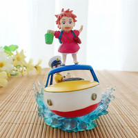 Ponyo on the cliff anime action figure prefect quality figurine Poniu Sousky Seagal handmade Toys for children home decoration