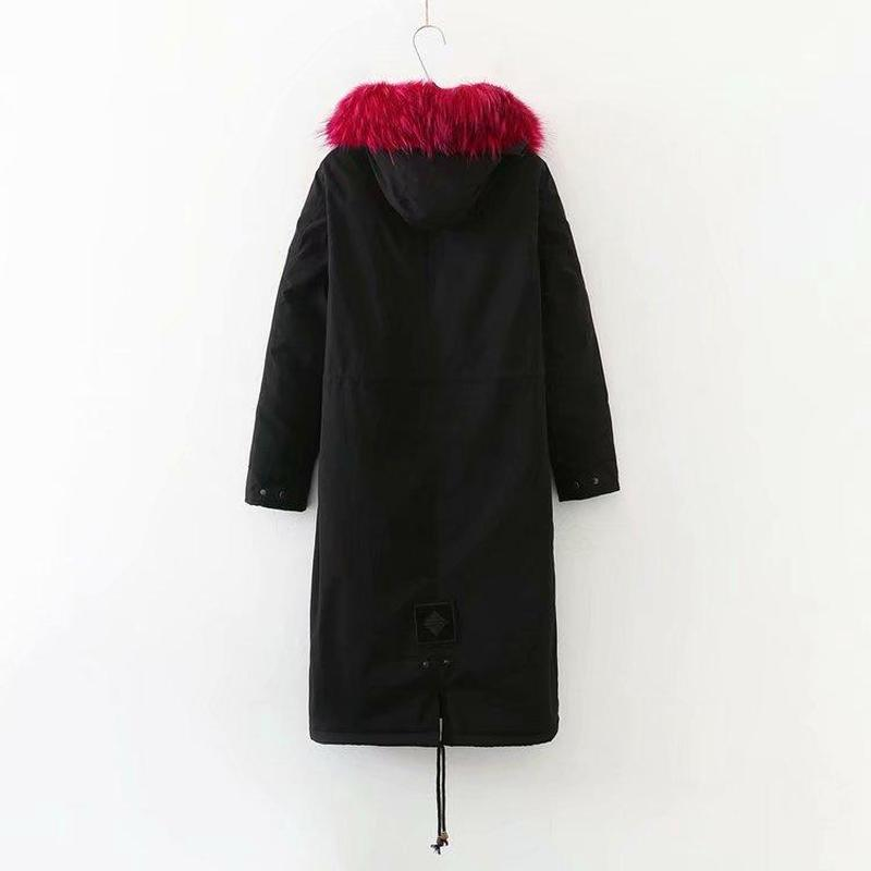 Plus Size Winterjas Vrouwen Warm Knielengte Hooded Down Katoen Gewatteerde Jassen Vrouwelijke Dikker Lange Parka Uitloper - 2