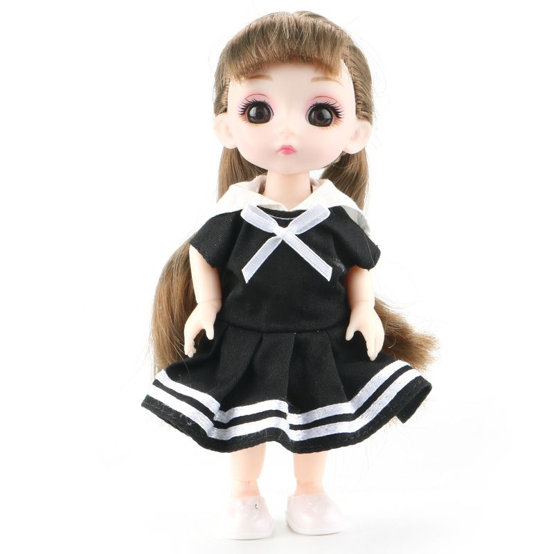 6inch Princess Girl Doll bjd Boneca Dolls normal/joint body Ball Jointed Reborn Glasses Dolls Toys Clothes Shoes Gift For Girls 7