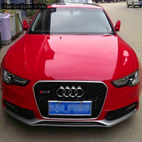For Audi A5 Modified RS5 Style Front Hood Center Grille Grill Car Styling 2012 2016 With Emblem logo Racing Grills     -