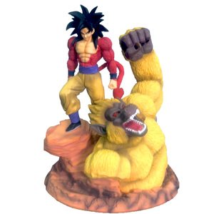 Dragon Ball Z Super Saiyan 4 Son Goku Gold Great Apes Scene Statue Resin Figure DBZ Action Figures Collectible Model Toy(China)