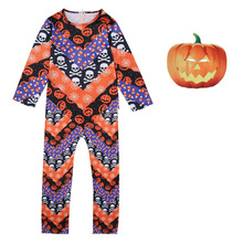 Boys Halloween Costume For Kids  Jumpsuit Clothes Scary Mask Ghost Cosplay Pumpkin 5-14Y 62949