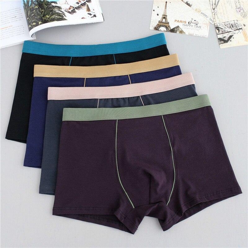 Sexy Male Underwear Solid Men Boxers Cotton Shorts Men's Underpants Boxer ropa interior hombre Comfort calzoncillo hombre