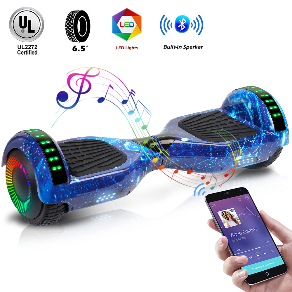 6.5 Inch Electric Scooters Hoverboard Unicycle Scooter Wheel Bluetooth Speaker Smart Electric Skateboard LED Hover Board Oxboard