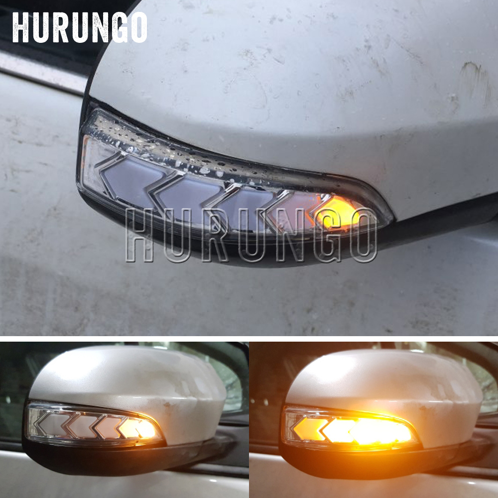 2PCS Rearview Mirror Indicator Lamp Dynamic LED Turn Signal Light For Toyota Camry Corolla Prius C Venza Avalon Vios Yari Altis