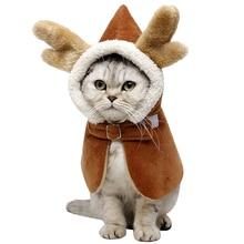 Pet Cape Cloak Creative Winter Hooded Dragon Horn Pet Cloak Pet Cosplay Costume For Cats