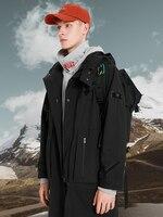Pioneer Camp Black Jacket Men Hooded Zipper Hiking Blue Trench Long Adolescent Techwear Coat Male Windbreaker AJK908153T