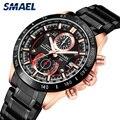 SMAEL 2019 Мужские кварцевые часы водонепроницаемые спортивные часы ремешок из нержавеющей стали деловые мужские наручные часы relogio masculino