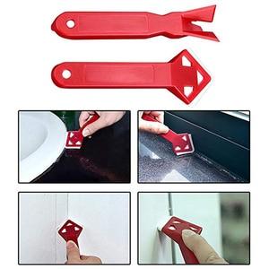 2pc/set Professional Caulk Away Remover Sealant Angle Scraper Silicone Grout Remover Spreader Spatula Scraper Tool Easy to Clean
