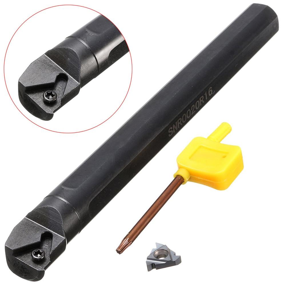 1pc Lathe Internal Threaded Turning Tool Holder Boring Bar With 16 IR Insert For SNR0020R16 Tool
