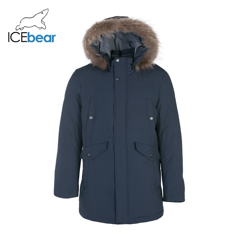 ICEbear 2019 Down Jacket Men Winter Portability Warm 70% White Duck Down Hooded Man Coat Brand Men's CLothing  DD4YA054F