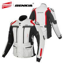 BENKIA Motorcycle Jacket Men Waterproof Motocross Jacket Electric Motorcycle Protection Body Armor Riding Racing Moto Jacket(China)