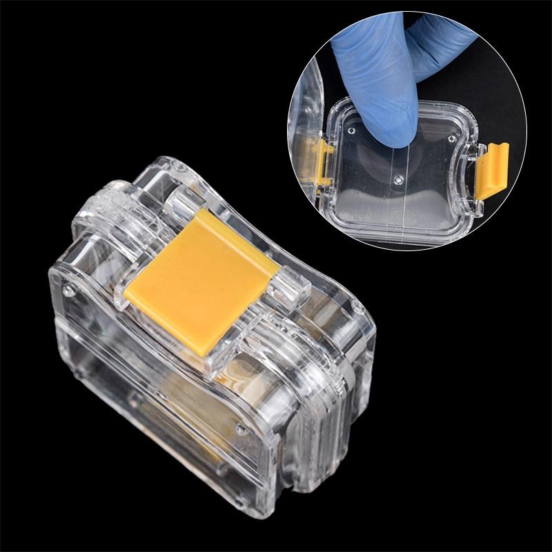 10pcs new dental pequena coroa mantendo caixa transparente com clear filme flexivel dentro