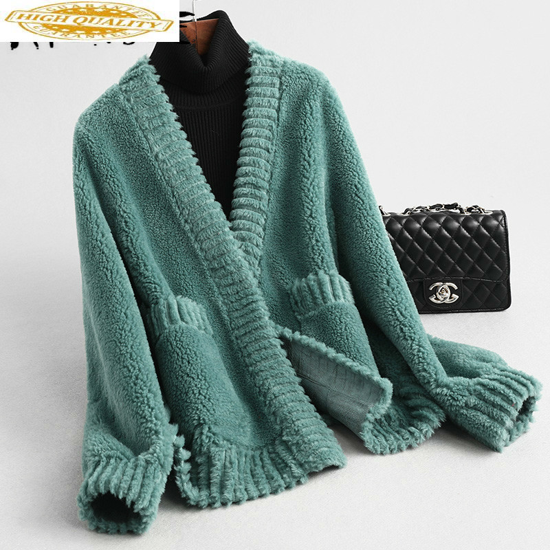 Real Fur Coat Women Sheep Shearing Winter Coat Women Clothes 2019 Korean Wool Jacket Manteau Femme KQN59341 YY1584