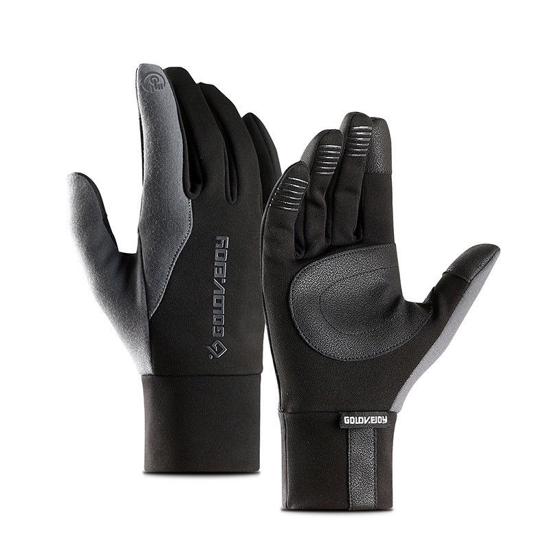 Local Stock Mens Unisex Leather Gloves Touch Screen Thinsulate Lined Driving Warm Gloves Winter Keep Warm Mittens Male