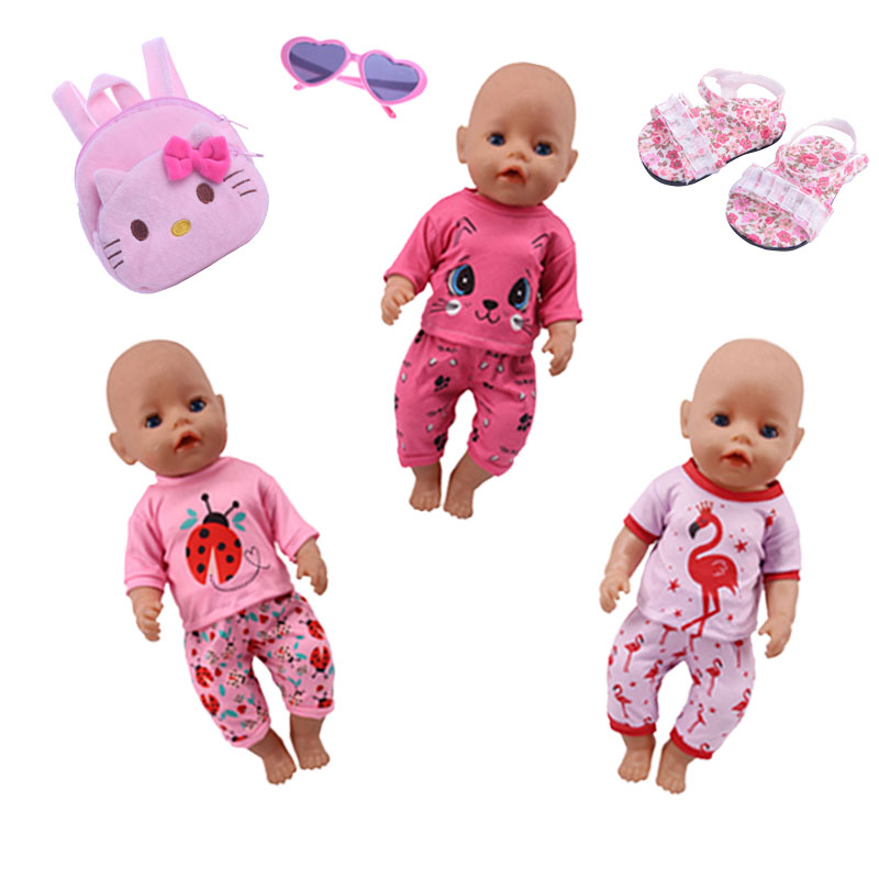 Doll Clothes Accessories Dress&Beetle Pajamas&Cat Set&keiti Cat Bag For 18-Inch American&43 Cm Generation Christmas Gift