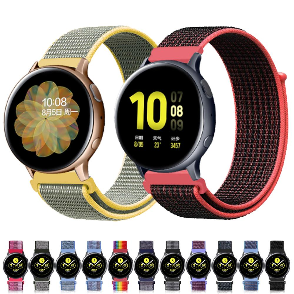 Galaxy Watch Active 2 Strap For Samsung Gear S3 Frontier Galaxy Watch 46mm 20/22mm Watch Band Nylon Loop Huawei Watch Gt 2 44mm