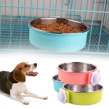 Cage Bowl Hanging Dogs Dog Feeder Pet Feeding Bowl 3 Colors Separable Hamsters Puppy Water Food 5
