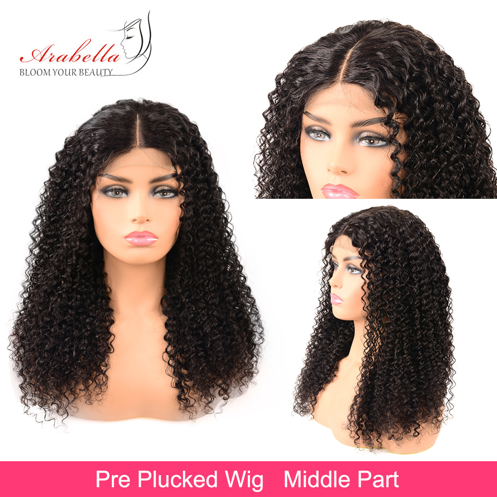 Jerry Curly Wig 100%  Closure Wig With Baby Hair Pre Plucked Arabella  4*4 Closure Wig Curly  Wig 2