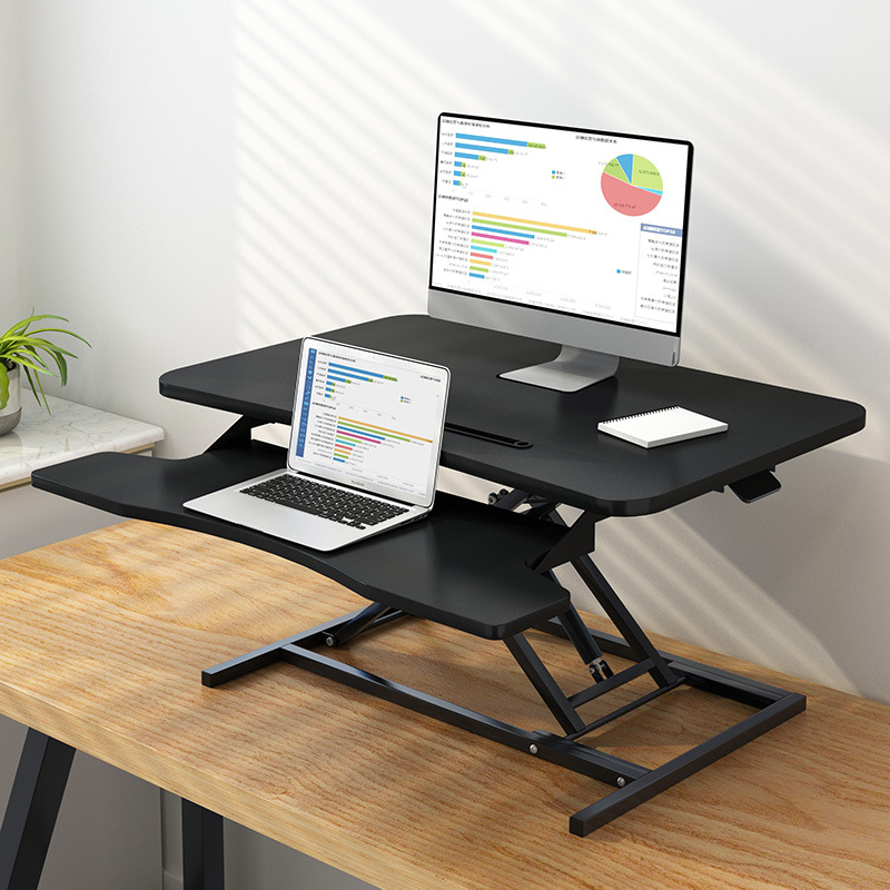 Stand-up Height Adjustable Desk Office Desk Folding Extra High Rack Height Adjustable Computer Desk Display Table China Mobile W