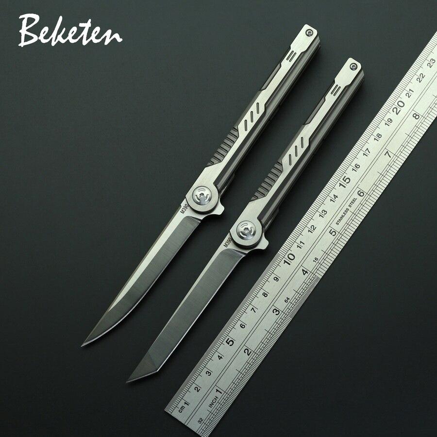 BEKETEN Shadow M390 складной нож с титановой ручкой для кемпинга, охоты, рыбалки, тактический карманный нож для выживания, инструменты для повседневного использования|Ножи|   | АлиЭкспресс