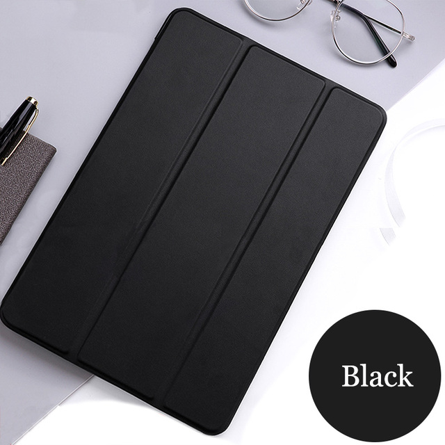 """Tablet case for Apple ipad 9.7"""" 2018 PU Leather Smart Sleep wake Trifold Stand Solid cover funda capa for ipad6 th A1893 A1954"""