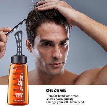 2-in-1 mężczyźni oleista głowa żel do stylizacji włosów z grzebień do włosów krem do stylizacji dwa w jednym krem krem do włosów grzebień z powrotem do stylizacji włosów tanie i dobre opinie CLOTHES OF SKIN CN (pochodzenie) Pomady i woski CN(Origin) Men s oil Head Styling Gel Pomades Waxes 280ml 100 pure Argan Oil And vitamin E