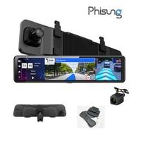 Grabadora de vídeo de coche, cámaras duales AHD1080P, WIFI, navegación GPS, cámara de salpicadero, espejo 4G, DVRs, 4 + 32g, Android 8.1