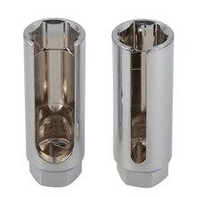 HLZS-2Pcs, универсальный автомобильный кислородный датчик 22 мм, 1/2 дюймов, торцевой ключ, инструмент для удаления, инструменты для ремонта автомобиля