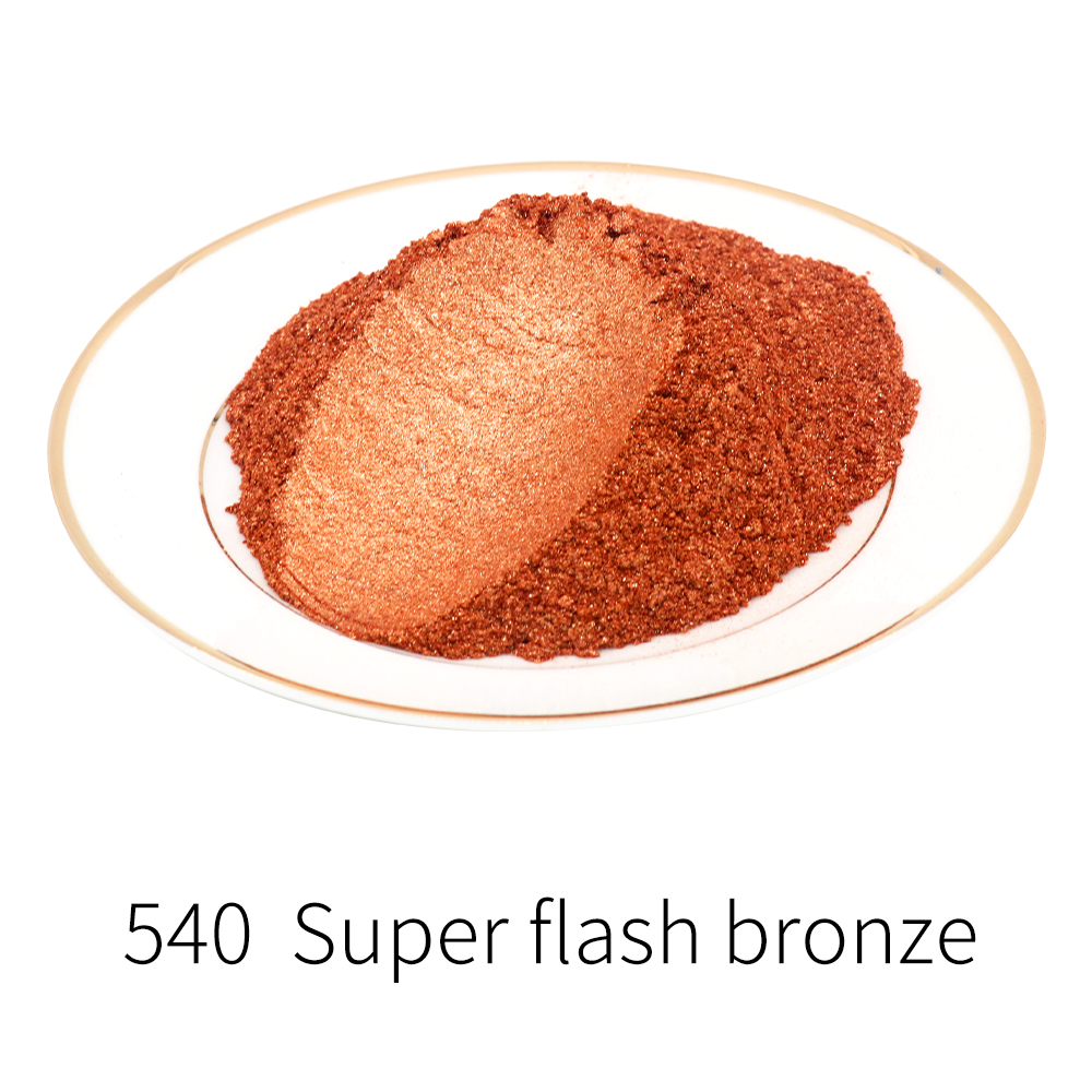 Type 540 Mica Pigment Pearl Powder DIY Mineral Dye Colorant Dust For Soap Automotive Art Crafts 10g 50g Acrylic Paint Powder