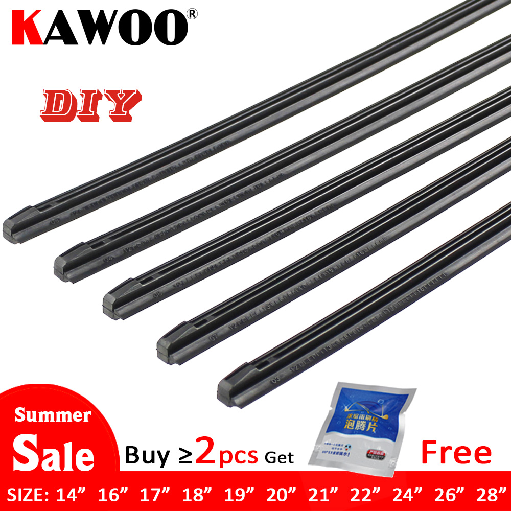 KAWOO Wiper-Blade Accessories Refill Rubber-Strip Vehicle-Insert Car 8mm Soft 14-16--17-18-19-20-21-22-24-26-28-1pcs