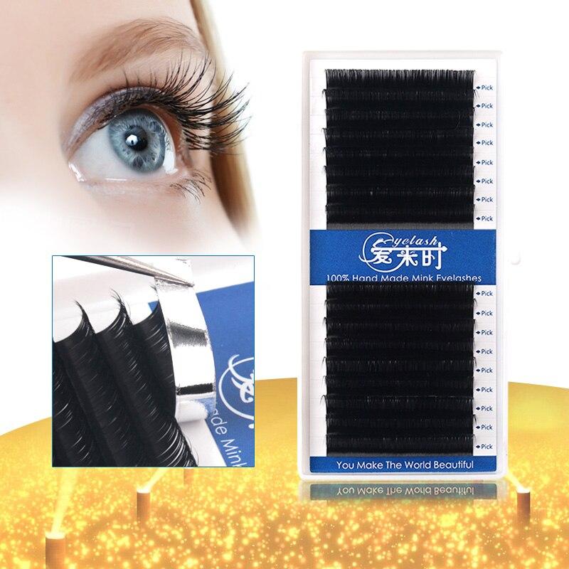 16Rows Eyelashes Extensions Individual Lashes 0.03-0.25 Lashes Extensions 7-16mm B/C/D Curl Faux Mink Volume Silk Eyelash Cilios