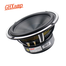 GHXAMP 6.5 inch Waterproof Woofer Speaker Car Horn Cast Aluminum Basin Frame Bass Shock Ceramic Basin 4OHM 50W 46HZ 1PCS