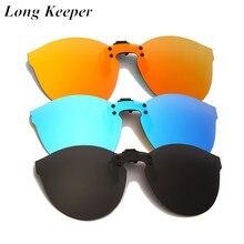2021 moda oversized polarizado clip em óculos de sol das mulheres dos homens flip up lente condução óculos de sol amarelo carro noite óculos de condução