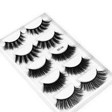 Mink Eyelashes Eye-Makeup Multipack Fluffy Handmade Natural 5-Pairs 100%Real 3d for Eye-Imitation-Cilios