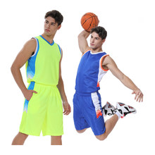 Custom Druck Männer Basketball Jersey Sets Sportwear College Trainingsanzüge Atmungs Training Uniformen Sport Kleidung(China)
