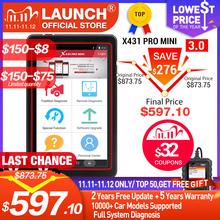 Launch X431 Pro Mini V3.0 Volledige System Car Diagnostic Tool Obd OBD2 Bluetooth/Wifi Code Reader Scanner X 431 Voors mini X431 V