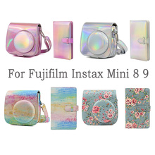 Besegad بو الجلود Instax كاميرا كيس حقيبة ألبوم صور صغيرة ل Fujifilm Instax Mini 8 9 كاميرات فورية مجموعة اكسسوارات جديد