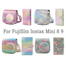 Besegad PU Leder Instax Kamera Tasche + Mini Fotoalbum für Fujifilm Instax Mini 8 9 Instant Kameras Set zubehör neue